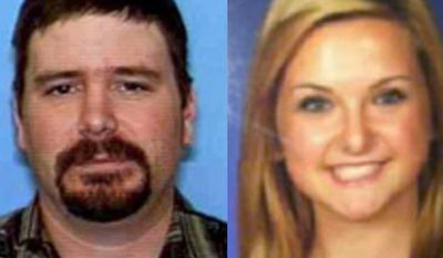 ** FILE ** James Lee DiMaggio (left), 40, and Hannah Anderson, 16, are pictured in a combination of undated file photos provided by the San Diego Sheriff's Department. (AP Photo/San Diego Sheriff's Department)