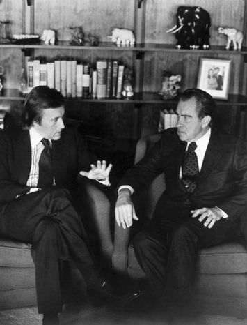 David Frost won worldwide fame for his interviews with former President Richard Nixon. His family said he died of a heart attack Saturday aboard the Queen Elizabeth II cruise ship, where he was due to give a speech. (Associated Press Photographs)