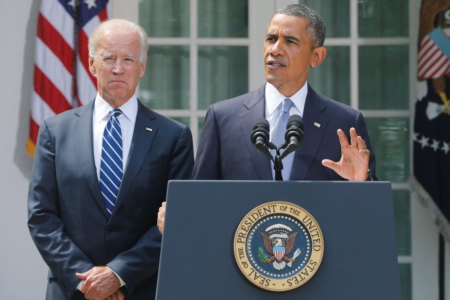 Turnabout: As members of the Senate, Joseph R. Biden (above), Chuck Hagel (below left) and John F. Kerry in particular defended Syrian President Bashar Assad against the demonization from the Bush administration. Now on President Obama's national security team, they have taken a starkly different view. (Associated Press)