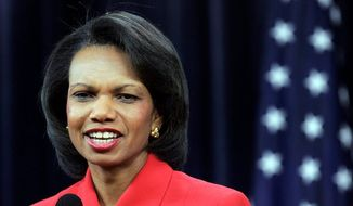 Condoleezza Rice served as secretary of state in the George W. Bush administration. (Associated Press) ** FILE **