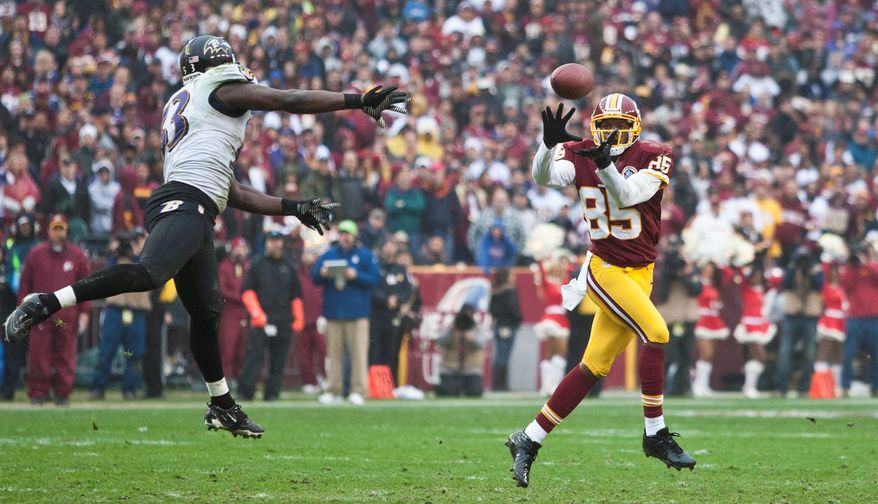 Redskins wide receiver Leonard Hankerson caught at least one pass in the team's final 15 regular-season games in 2012. That included a two-touchdown game in a win over the Browns when Kirk Cousins was playing for an injured Robert Griffin III. (the washington times)