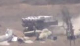 A video posting shows Syrian SA-11 missiles being deployed at the Al Massah Military Airport in Damascus. Officials say the base is a major target of U.S. strikes because it was used to fire chemical weapons during the Aug. 21 attack. (Youtube.com)