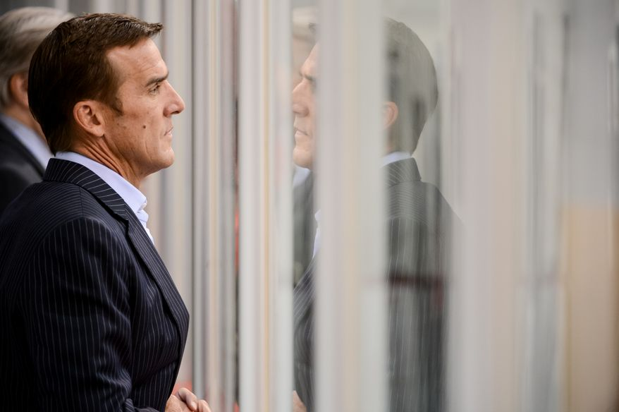 Washington Capitals General Manager George McPhee during the 2013 Capitals Rookie Camp at Kettler Capitals Iceplex, Arlington, Va., Thursday, September 5, 2013. (Andrew Harnik/The Washington Times)