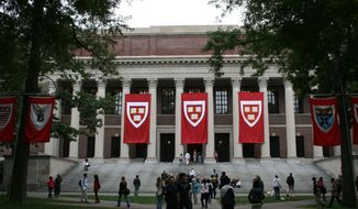 An image on the Harvard campus in Cambridge, Mass. (credit:topscreenwriters.com) ** FILE **