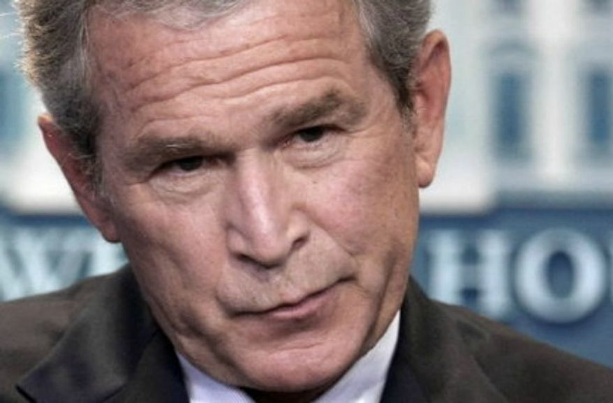 ** FILE ** President Bush speaks during a news conference, July 12, 2007, in the White House Press Room in Washington. (Associated Press)