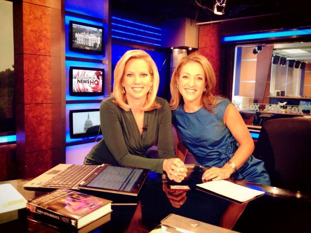 Shannon Bream of Fox News and Emily Miller on Sept. 8, 2013.