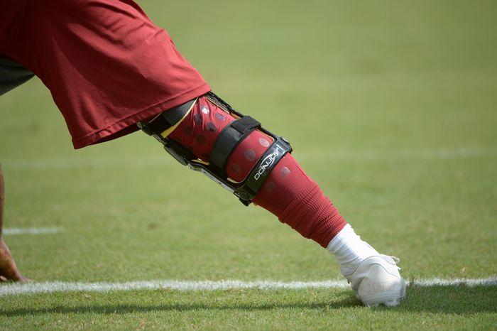 Quarterback Robert Griffin III's brace. (Associated Press)