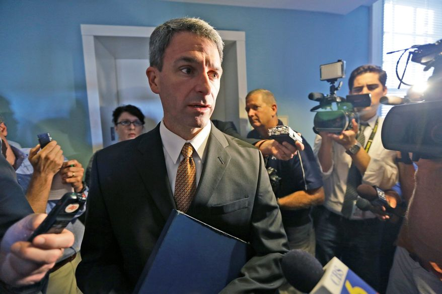 Paying: Kenneth T. Cuccinelli II says he has written a check to Cross Over Ministry for $18,000, the same amount he reportedly received from a businessman. (Associated Press)