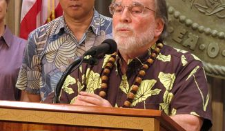 Hawaii Gov. Neil Abercrombie announces a special session on gay marriage for the state Legislature on Monday. If lawmakers pass a bill, Hawaii would join 13 states and the District of Columbia in allowing gay marriage. The special session is scheduled to begin on Oct. 28. (Associated Press)