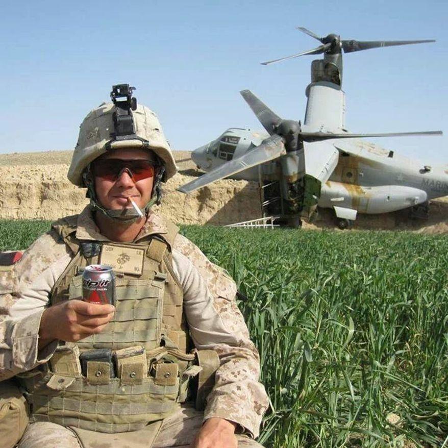 Reddit user Keggerss posted the following image of a crashed Marine Osprey in Afghanistan on Reddit. (Image: Reddit)