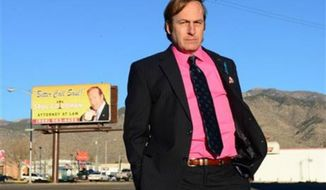 """Bob Odenkirk appears in a scene from the final season of """"Breaking Bad."""" AMC and Sony Pictures Television on Wednesday, Sept. 11, confirmed that Odenkirk, who plays Saul Goodman, will star in a one-hour prequel tentatively titled """"Better Call Saul.""""(AP Photo/AMC, Ursula Coyote)"""
