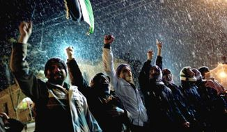** FILE ** Free Syrian Army supporters in north Syria, Feb. 29, 2012. (Associated Press)