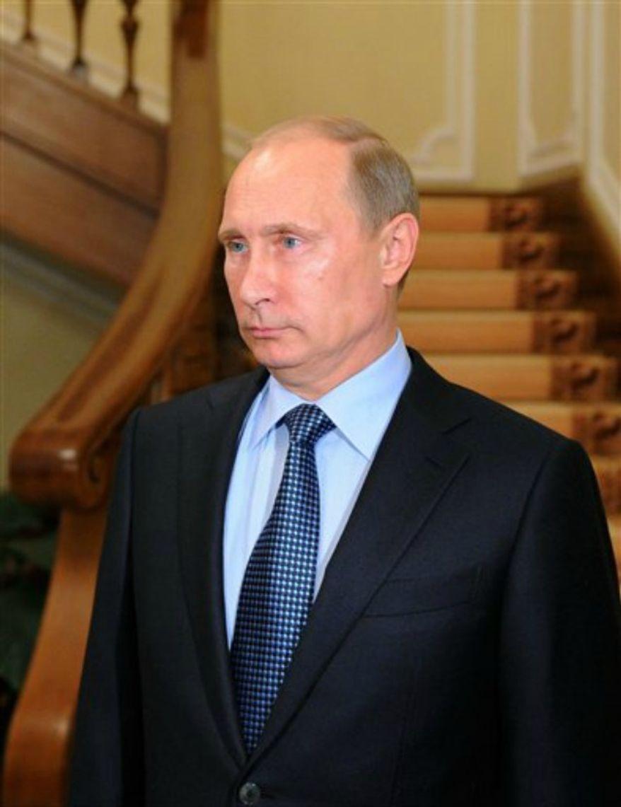 ** FILE ** Russian President Vladimir Putin (AP Photo/RIA Novosti Kremlin, Mikhail Klimentyev, Presidential Press Service, Pool)