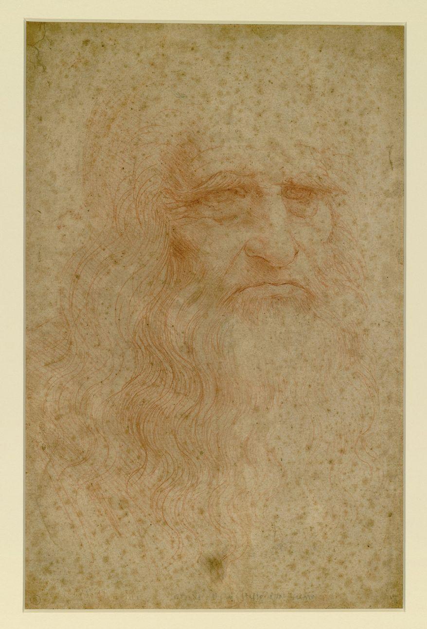 Leonardo da Vinci, self-portrait, ca. 1512. Credit: Italian Ministry of Cultural Heritage and Activities; Biblioteca Reale, Turin, Italy