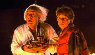 Michael J. Fox and Christopher Lloyd starred in 'Back to the Future' in 1985. (Image: Universal)