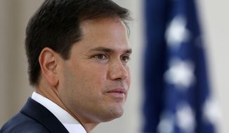 Sen. Marco Rubio, Florida Republican. (Associated Press) ** FILE **