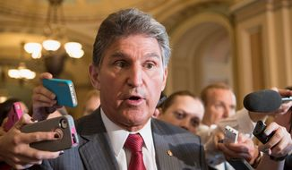 ** FILE ** Sen. Joe Manchin III, West Virginia Democrat. (Associated Press)