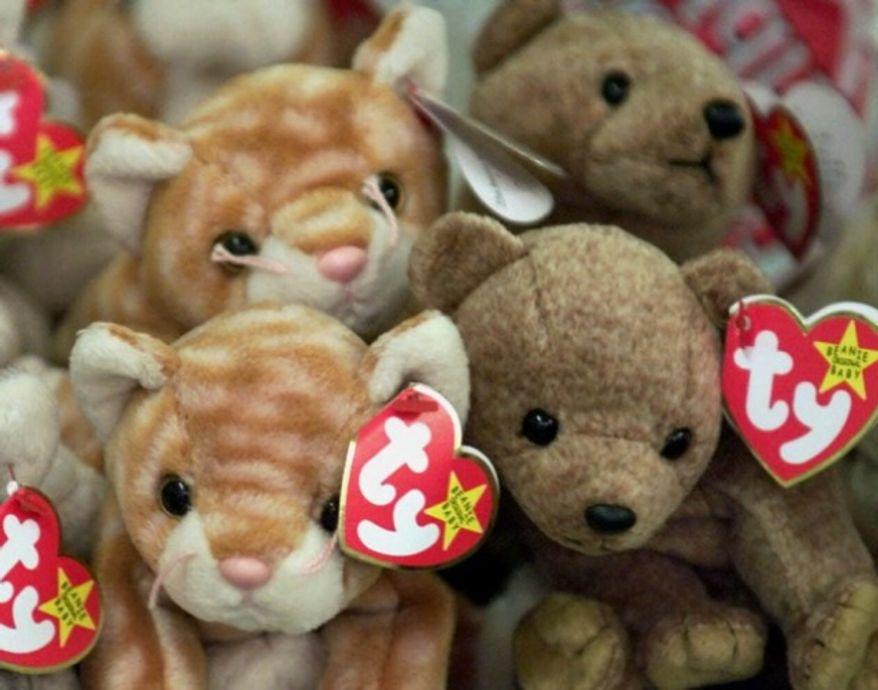 ** FILE ** Ty Inc. Beanie Baby stuffed animals. (Associated Press)