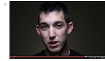 """** FILE ** This video frame grab provided by Alex Sheen of becauseisaidiwould.com shows Matthew Cordle, who has confessed in a video posted online that he is to blame for a wrong-way car crash stemming from a night of heavy drinking that killed another man. In the video, he says he is willing to take """"full responsibility."""" (AP Photo/becauseisaidiwould.com)"""