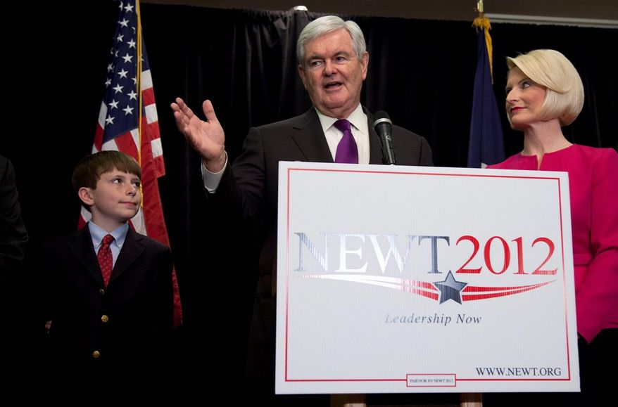 "A statement from former Speaker Newt Gingrich says be ""is not running"" for the U.S. Senate and tells people to ignore solicitations by a Virginia PAC trying to draft him. (associated press)"