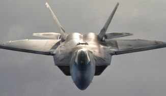 An F-22 fighter jet (U.S. Air Force) ** FILE **