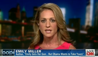 Emily Miller on CNN with Anderson Cooper. Sept. 19, 2013.