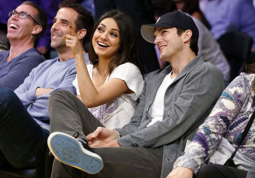 It's a repeat of 'That 70s Show.' Lovebirds Ashton Kutcher and Mila Kunis ranked No. 4 on Forbes' list, at $35 million.