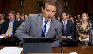"""I think of instead of the libertarian aspect of the Republican Party being a detriment, I actually think it has come full circle and it really is the way the Republican Party will grow,"" Sen. Rand Paul, Kentucky Republican, says of his political future. (Associated Press)"