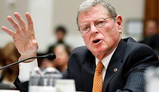 **FILE** Sen. James M. Inhofe, Oklahoma Republican (Associated Press)