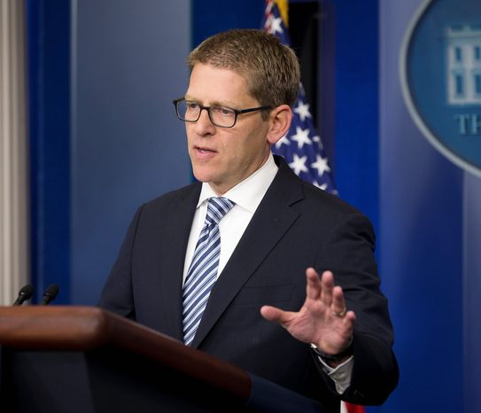 Example: White House press secretary Jay Carney is one of several ex-journalists who now work for the Obama administration. (Associated Press)