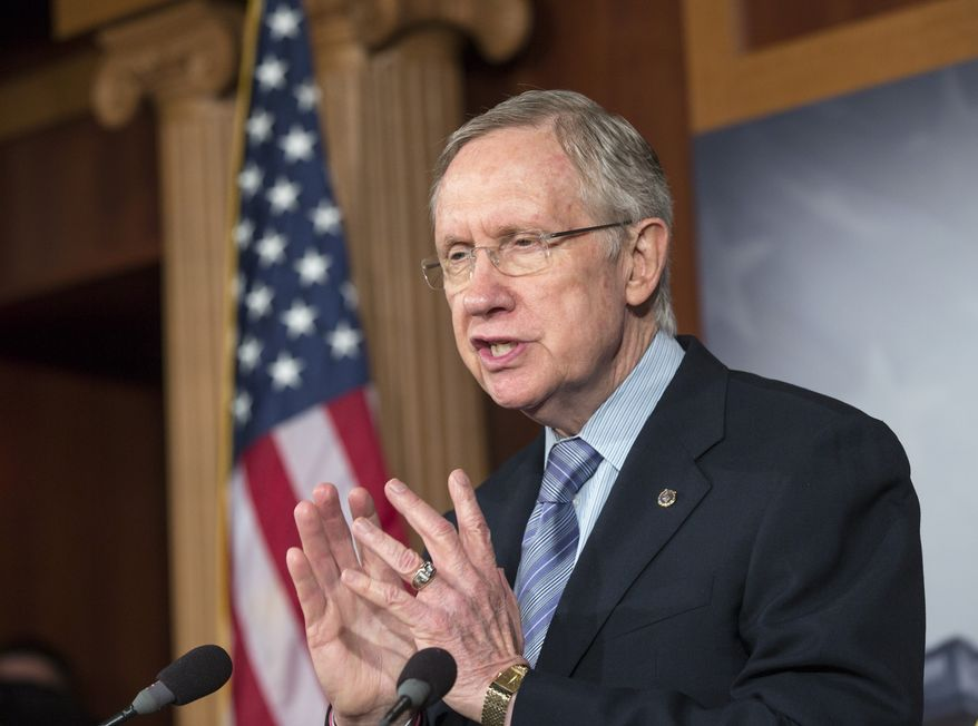 **FILE** Senate Majority Leader Harry Reid, Nevada Democrat, speaks Sept. 19, 2013, on Capitol Hill in Washington. (Associated Press)