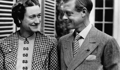 Edward VIII abdicated the British throne to marry American divorcee Wallis Simpson. He was never crowned.