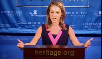 Emily Miller speaks at the Heritage Foundation. Sept. 13, 2013.