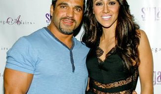 ** FILE ** Melissa Gorga and husband Joe. (Associated Press)