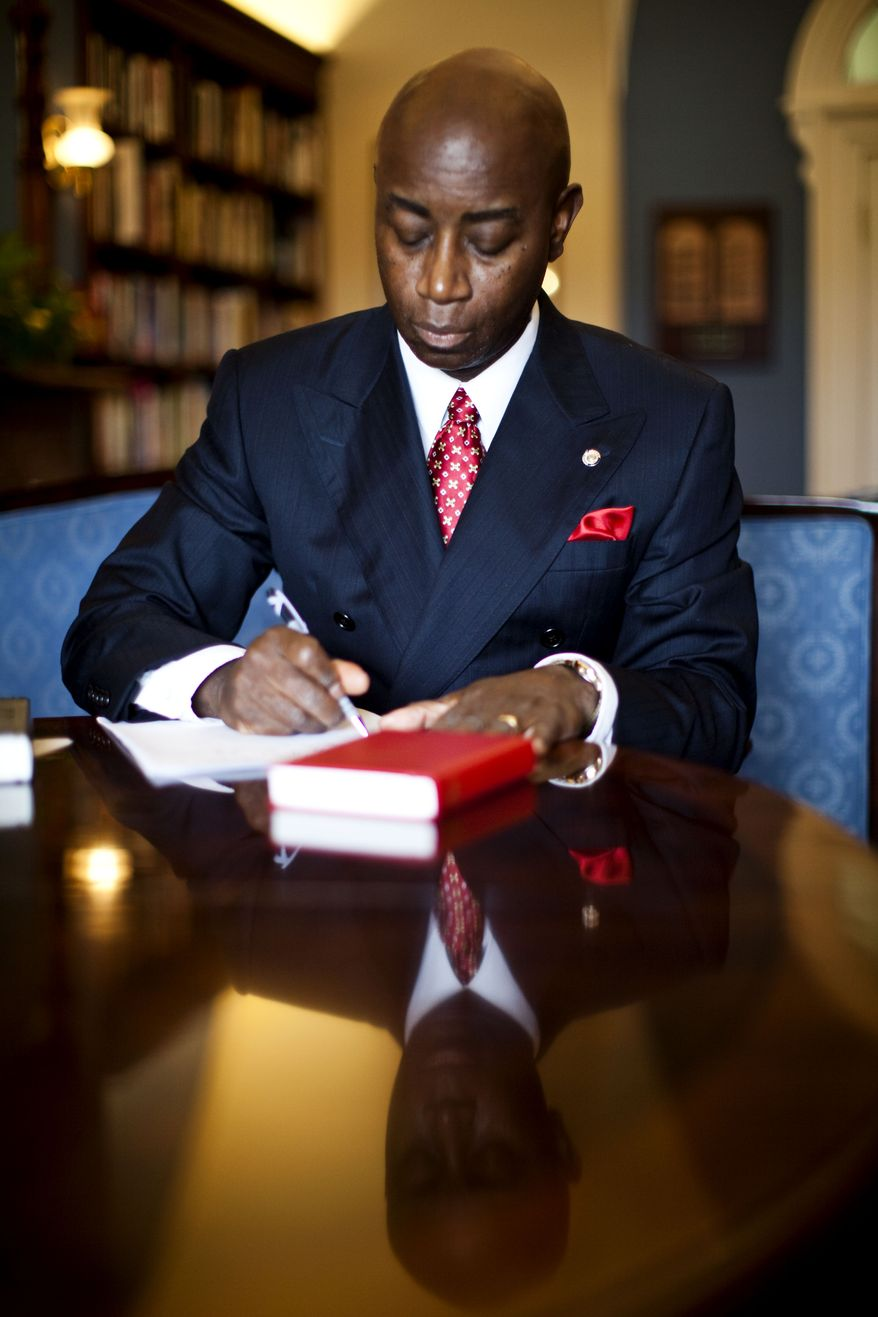 **FILE** Senate Chaplain Barry Black poses for a portrait in his office on Capital Hill in Washington on July 9, 2010. (Associated Press)