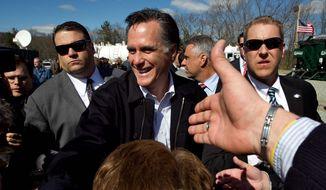 ** FILE ** Former Massachusetts Gov. Mitt Romney. (Associated Press)