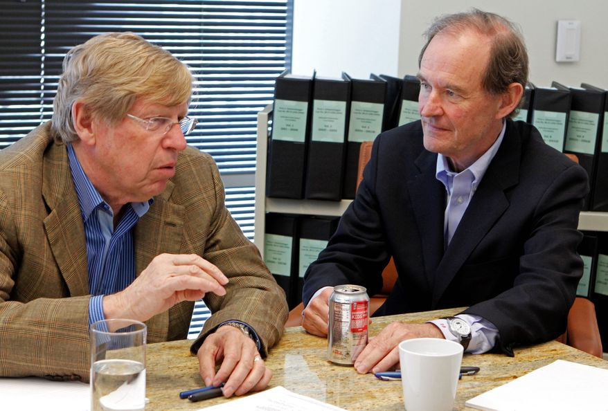 Attorneys Ted Olson (left) and David Boies were involved in the landmark federal trial over the constitutionality of California's gay marriage ban. Now they are taking on Virginia's constitutional ban on gay marriage (associated press)