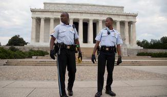 The Lincoln Memorial and Martin Luther King Jr. Memorial on the Mall were closed to visitors Tuesday, the first day of a government shutdown that forced the closing of all national parks. Travel and leisure generates about $33 million a day in tourism business in the region, with the main draw being the Mall. (associated press photographs)