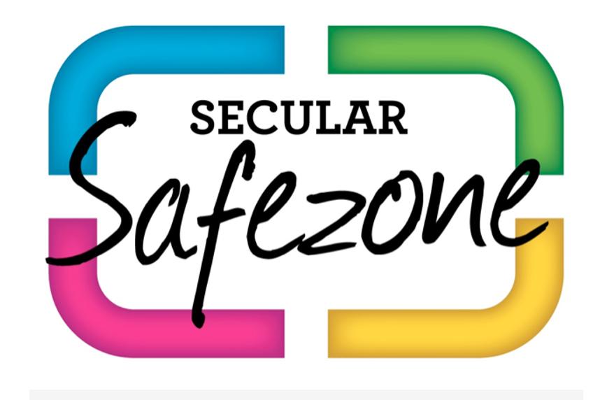 Screen grab of Secularsafezone.org.