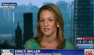Emily Miller on CNN. Oct. 1, 2013.