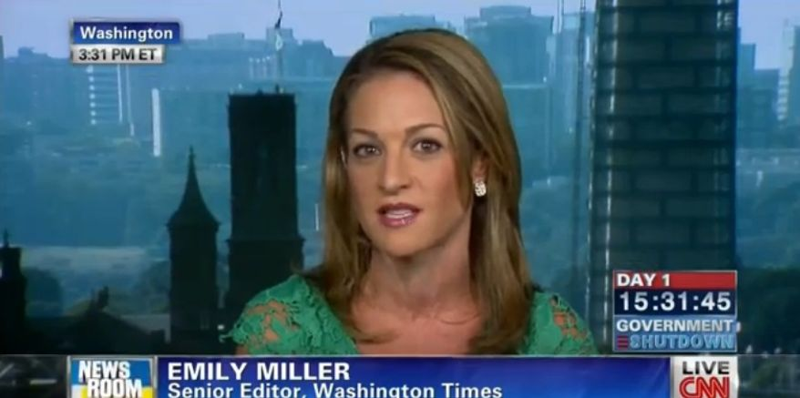 Emily Miller on CNN. Oct. 1, 2013.