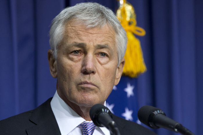 **FILE** U.S. Secretary of Defense Chuck Hagel speaks during a joint news conference at the Ministry of National Defense in Seoul on Oct. 2, 2013. (Associated Press)