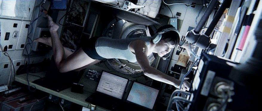 """Sandra Bullock, as Dr. Ryan Stone in """"Gravity."""" (AP Photo/Courtesy Warner Bros. Pictures)"""