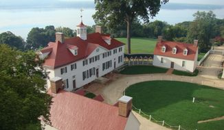 "Sounds and images from Mount Vernon, the first president's estate, have been incorporated into the production of ""george WASHINGTON."" (DEAN NORTON)"