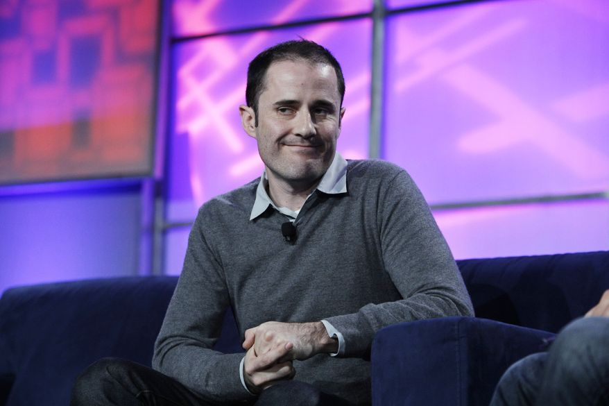 FILE - In this  Wednesday, Nov. 17, 2010, file photo, Twitter co-founder and former CEO Evan Williams speaks at the Web 2.0 Summit in San Francisco. Williams, a Twitter co-founder who was CEO for two years until Costolo took over in 2010, owns a 12 percent stake in the company, which means he is in line for the biggest jackpot once the company goes public. (AP Photo/Paul Sakuma, File)