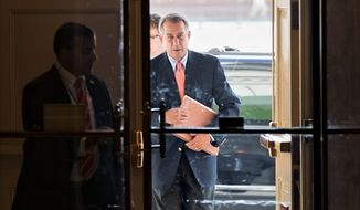 "House Speaker John A. Boehner, Ohio Republican, speaking ABC's ""This Week"" on Sunday said that he will not allow a debt increase without winning some concessions on lowering spending. ""We are not going down that path. It is time to deal with America's problems. How can you raise the debt limit and do nothing about the underlying problem?"" (Associated Press)"