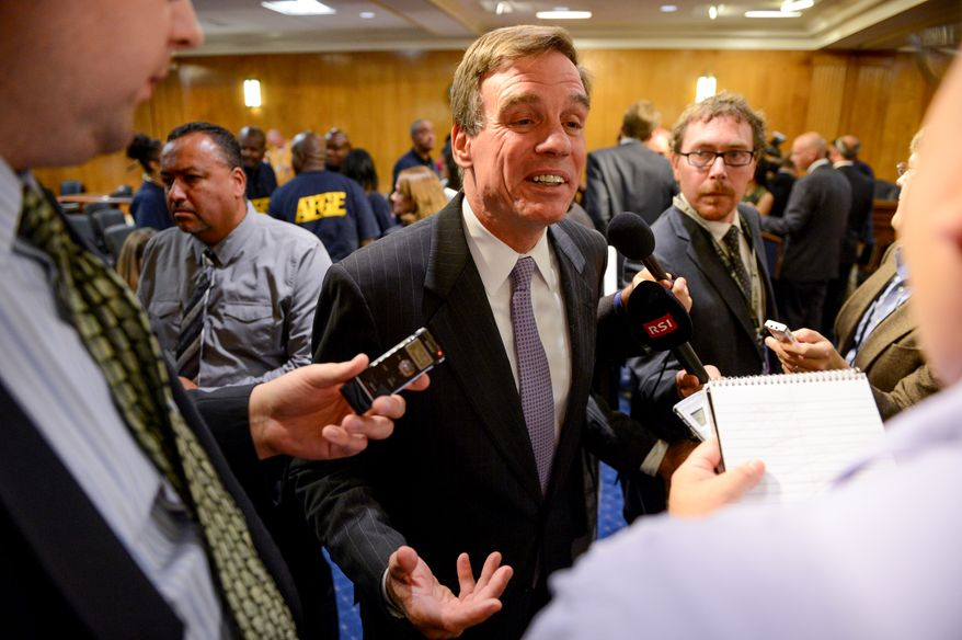 ** FILE ** Sen. Mark Warner, Virginia Democrat. (Andrew Harnik/The Washington Times)