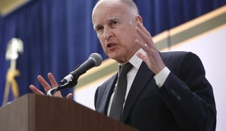 ** FILE ** California Gov. Jerry Brown. (AP Photo/Rich Pedroncelli)
