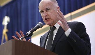 ** FILE ** California Gov. Jerry Brown. (AP Photo/Rich Pedroncelli)