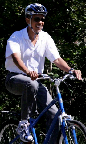 "The ""easy rider"" has little in common with Rough Rider Teddy Roosevelt except the White House. (Associated Press)"